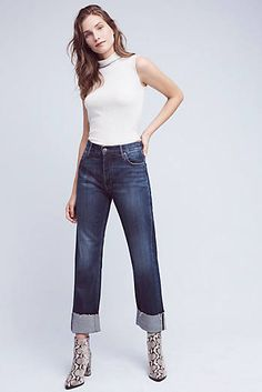 MiH Phoebe High-Rise Cuff Jeans