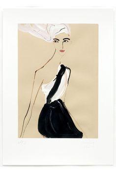 Artist Tanya Ling's elegant Chanel illustration for Vogue's Art in Fashion (Vogue.com UK)