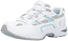 Vionic Women s Walker Classic Shoes 8.5 W US White Blue  Fashion Sneakers a1030bec7