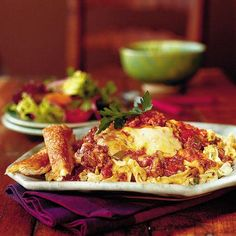 Beef Lombardi While it may sound like a fancy dish, Beef Lombardi is simply a mixture of ground beef and chopped tomatoes that's spooned  over a mixture of creamy noodles, topped with cheese, and baked. It's a great make-ahead dish because you can assemble the casserole and freeze it for up to one month.