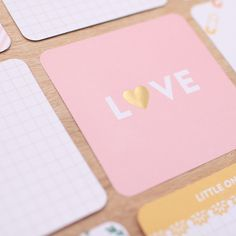These 4x4 cards are the perfect addition to your baby's album and will fit in any of our Photo Pocket Page designs that allow for 4x4 square images - including