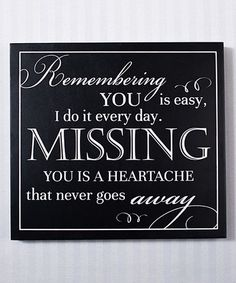 Another great find on #zulily! 'Remembering You Is Easy' Box Sign #zulilyfinds