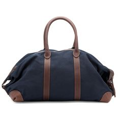 Cuyana Overnight Bag, Turkish Leather and Canvas in Navy