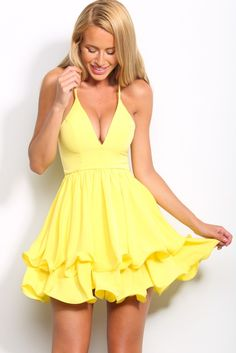 HelloMolly | Tell Me Something Dress Lemon from Hello Molly Fashion. Saved to Bright 'N' Bold