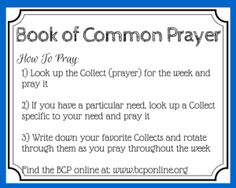 Find fresh inspiration for your prayers in the ancient words of the Book of Common Prayer. Learn how to use the Book of Common Prayer with these 8 ideas. Daily Scripture, Daily Devotional, Bible Verses, Prayers For Healing, Bible Prayers, Printable Prayers, Free Printable, Contemplative Prayer, Book Of Common Prayer