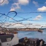 Seagull Skytrails: An Echo Time-Lapse Reveals the Flight Path of Birds over Cornwall, England