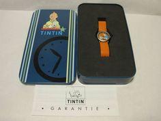 TINTIN orange watch, in tin
