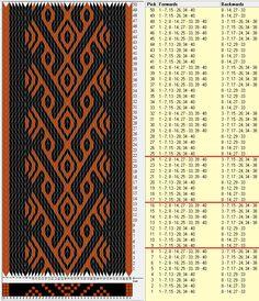 40 tarjetas, 2 colores, repite cada 8 movimientos // sed_155b diseñado en GTT༺❁