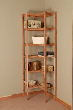 Basic Ventilated Cedar Corner Cubby Closet Organizer