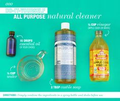 DIY-All-Natural-All-Purpose-Cleaner & click through for others to make at home
