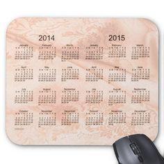 Peach Silk 2 Year 2014-2015 Calendar Mouse Pad Design from Calendars by Janz