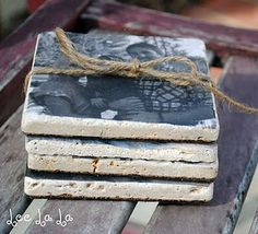 Do it yourself Photo Coasters! LOVE this idea! ~Great gift ...and thank you for clients!