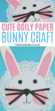Possibly the cutest bunny craft for kids? This easy doily paper bunny craft only needs a few supplies and is one of our favourite easter crafts for kids. Rabbit Crafts, Bunny Crafts, Easter Crafts For Kids, Easter Decor, Easter Ideas, Paper Bunny, Babysitting Activities, Kindergarten Crafts, Preschool