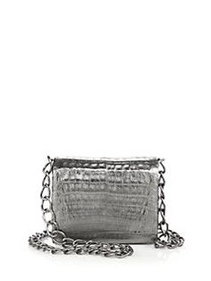Nancy Gonzalez - Small Metallic Crocodile Crossbody Bag
