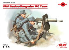 WWI Austro-Hungarian MG Team (2 figures)  (100% new molds)