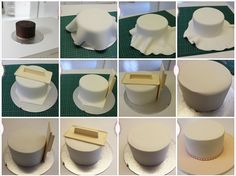 How to cover a cake with sharp edges
