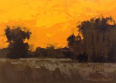 """7 Tips to Jumpstart Your Paintings - """"Weston Fields, Winter Sunset"""", oil, 5 x 7″, © Mary Bentz Gilkerson"""