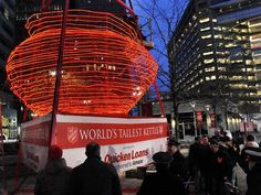 World's largest salvation army kettle, detroit