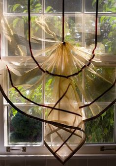 Sheer Relaxed Roman Shade - Interior Design Idea in Nashville TN STUNNING!!!!