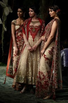 Indian bridesmaids' dresses - I love the color combo and all the detail