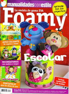 revistas de manualidades gratis Foam Crafts, Crafts To Make, Craft Projects, Projects To Try, Magazine Crafts, Paper Crafts Origami, Ideas Para Fiestas, Pasta Flexible, All Craft