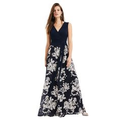 Navy and oyster Madeline lace skirt maxi dress
