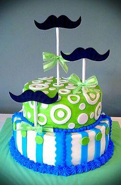 Little Mister Mustache Baby Shower Cake