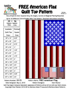 Name: 'Quilting : 0115 American Flag Quilt Pattern. For thin blue line flag quilt Modern Quilt Patterns, Patchwork Patterns, Quilt Block Patterns, Quilt Blocks, Patchwork Tutorial, Easy Patterns, Star Blocks, Crochet Patterns, Nancy Zieman