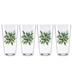 Product Image for Lenox® 16 oz. Holiday Acrylic Tumblers (Set of 4) 2 out of