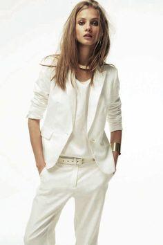 The flawless Janelle Monae. (She should wear white more often ...