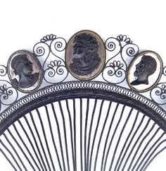 Berlin Ironwork Tiara Extremely Rare Classical Heads and Polished from spanishcomb on Ruby Lane