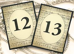 Hey, I found this really awesome Etsy listing at https://www.etsy.com/listing/153044278/wedding-table-numbers-vintage-music