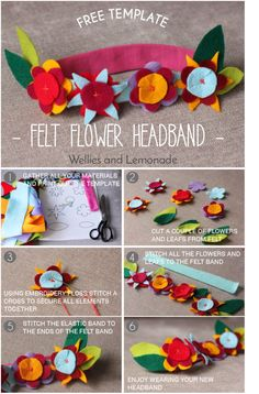 Check out this easy to make felt headband. Ideal for a gift or even make it for your own child. Free pattern and step by step instructions. Find it here http://www.welliesandlemonade.com/felt-flower-headband