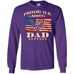 Proud U.S. Army Dad LS Ultra Cotton Tshirt