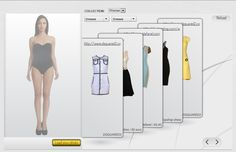 A web application that allows you to try on clothes online and mold the shape of the clothes straight to your body.