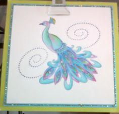 Peacock - Stamp Salado Sample