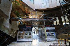 Restauración La Pedrera Barcelona - impresión de lonas publicitarias para andamiaje interior