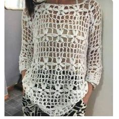 Summer crochet sweater in cotton yarn Crochet Cardigan, Crochet Jacket, Knit Crochet, Knitting Patterns, Crochet Patterns, Crochet Woman, Crochet Fashion, Crochet Clothes, Pulls