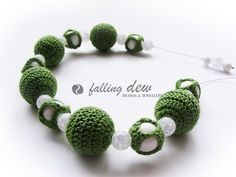 Beadwork Necklace And Bracelet OFFER Crochet Mother of Pearl Green White Gift for Her Jewellery Set on Etsy, £17.00