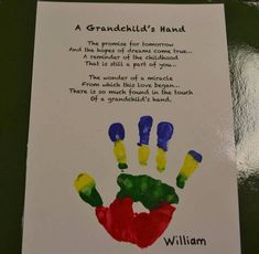 Grandchilds hand