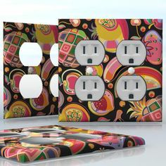 DIY Do It Yourself Home Decor - Easy to apply wall plate wraps   Fruit Jar  Preserves  wallplate skin sticker for 2 Gang Wall Socket Duplex Receptacle   On SALE now only $4.95