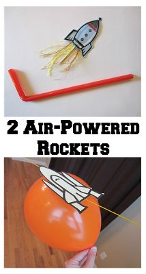 Kids will (literally) have a BLAST making and playing with these two air-powered rockets. Stop by Relentlessly Fun, Deceptively Educational for instructions.