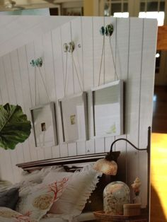 Love this idea for hanging frames with twine #DIY