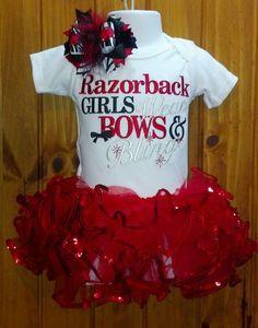 Razorback outfit by dazzlemegirl on Etsy, $42.00