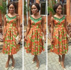 Ankara style ~#African Prints, African women dresses, African fashion styles, african clothing