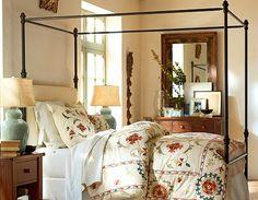 bedroom interior by Pottery Barn
