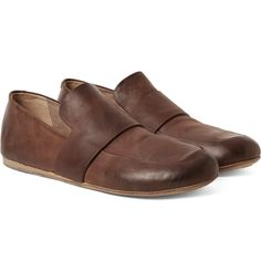 Washed-leather Loafers - BlackMarsèll Tg6e7ExtYH