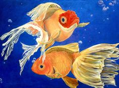 Good Luck Goldfish Painting by Samantha Lockwood - Good Luck Goldfish Fine Art Prints and Posters for Sale