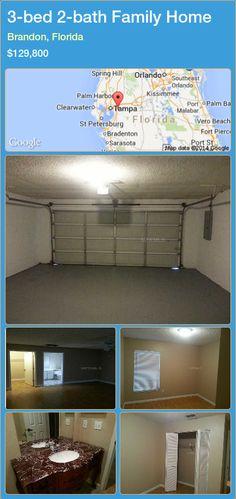 3-bed 2-bath Family Home in Brandon, Florida ►$129,800 #PropertyForSaleFlorida http://florida-magic.com/properties/63759-family-home-for-sale-in-brandon-florida-with-3-bedroom-2-bathroom