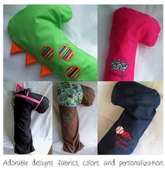 Darling Doodles seatbelt pillows
